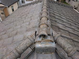 鬼瓦の落下に伴い屋根点検