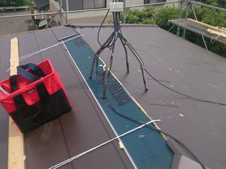 町田市 屋根カバー工法 金属屋根材を設置