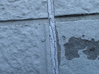 窯業系サイディングの表面の剥がれ