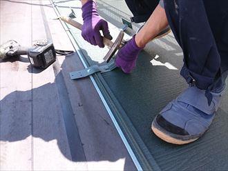 屋根工事での雪止め設置