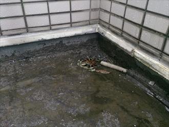 雨漏りに繋がる排水口回り