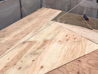 立川市 屋根葺き替え工事 野地板交換