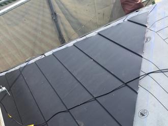 三鷹市 屋根葺き替え工事 屋根材設置