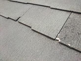 三鷹市でヒビ割れが酷いコロニアルNEOの屋根を金属屋根でカバー工事