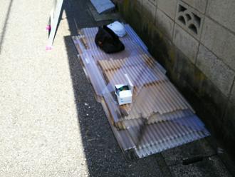 八王子市 工事で使用する波板や固定用金具など