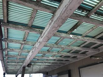 木製支柱の経年劣化