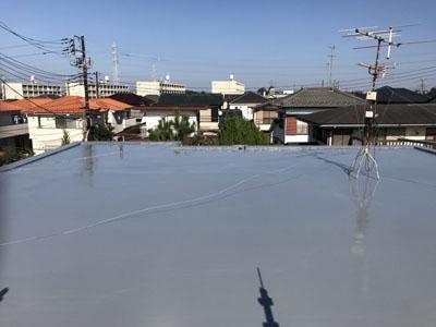 ウレタン防水された陸屋根
