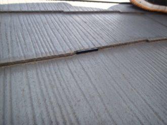 タスペーサーで縁切りされたスレート屋根