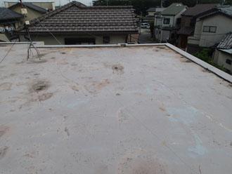 雨漏りしていた陸屋根