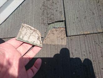 国立市富士見台で傷みが出始めたスレート屋根を金属屋根でカバー工事