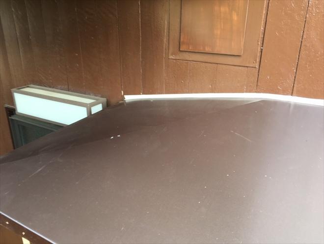 ガルバリウム鋼板張りが完成