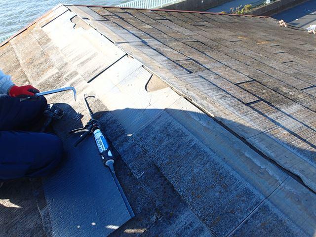 屋根材破損状況