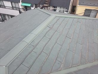 スレート葺きの屋根全景