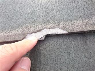 稲城市東長沼で劣化したパミールの屋根をガルバリウム鋼板で屋根カバー工事