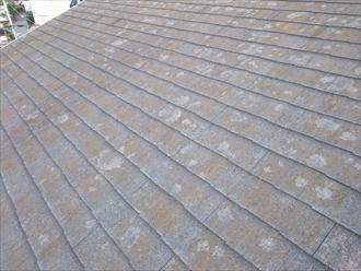 立川市で面している方角により傷み方が違うスレート屋根を塗装でメンテナンス