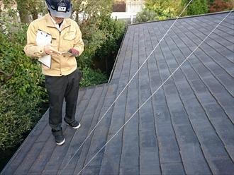 稲城市向陽台にて増築が原因で雨漏りしているスレート屋根を葺き替えます