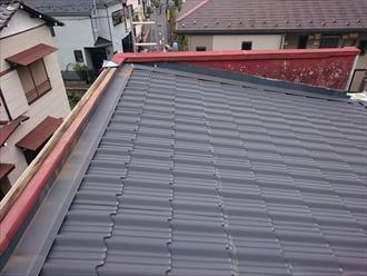 金属屋根の部分は問題ありません