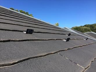 化粧スレート屋根の状態