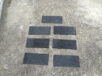 八王子市の屋根カバー工事、田島ルーフィング製のプレセメント付シングル屋根材ロアーニⅡを使用しました
