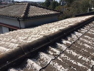 多摩市一之宮の屋根調査、劣化が進行したセキスイかわらUは葺き替え工事が必要です