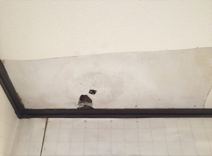 雨漏りで傷んだ天井