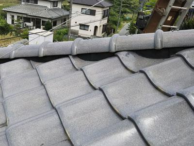 棟を取り直し後の瓦屋根