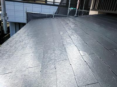 スレート屋根塗装後