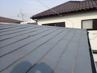 スレート屋根を点検