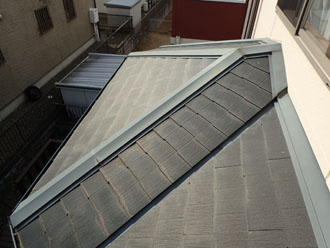 スレート屋根の問題のなさそうな部分