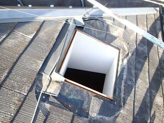 天窓撤去後屋根側