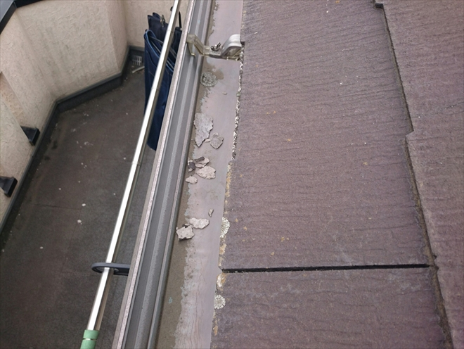 雨樋に落ちたパミールの欠片