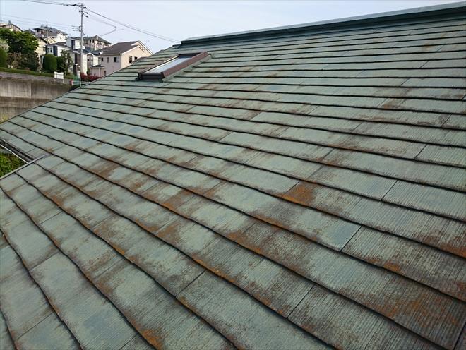 劣化が酷いスレート屋根