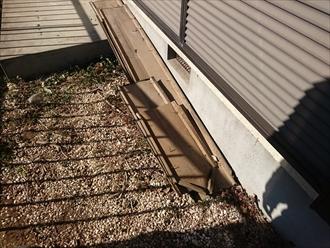 屋根から棟板金が落ちると危険です