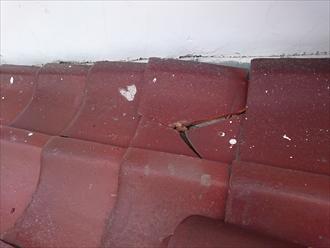 瓦が落ちて割れてしまいました