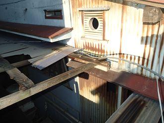 木部の劣化と破損