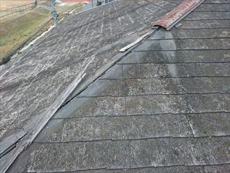 日野市東豊田で台風で飛ばされた棟板金をガルバリウム鋼板製のものへ交換します