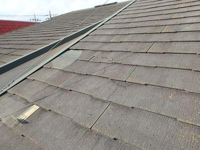 カバー前割れている屋根材