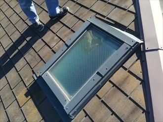 日野市豊田で雨漏りの原因になっているトップライト(天窓)を撤去して屋根葺き替え