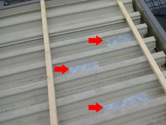 狛江市中和泉 屋根カバー工法 穴あき箇所の補修