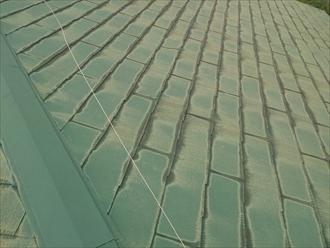 以前に塗装してあるスレート屋根