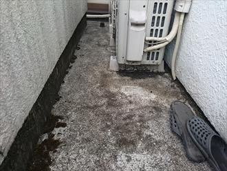 バルコニーの床は防水委が施工してあります