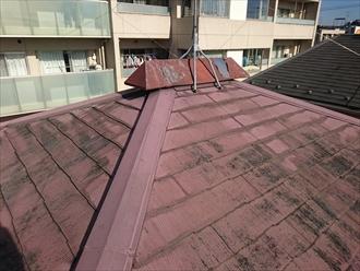 屋根の一番高い部分には大きな換気棟が設置されています