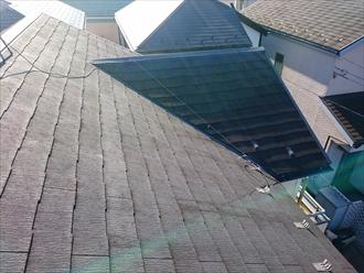 スレート葺きの屋根の状態