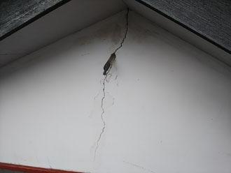 小平市花小金井で雨漏り調査、原因は漆喰の外壁のクラックでした