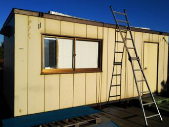 昭島市緑町 工場の倉庫の屋根葺き替え工事前