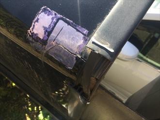 カーポートの部材破損