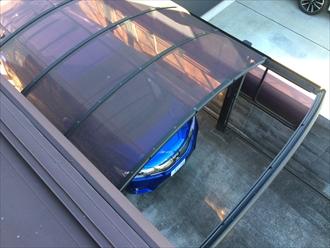 強風によるカーポート屋根飛散