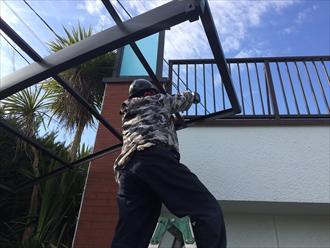 カーポートの屋根を造る