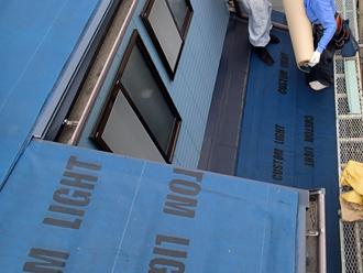 日野市日野台 屋根カバー工法 防水紙設置