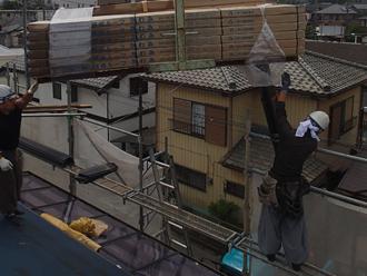 日野市日野台 横暖ルーフきわみ設置 屋根カバー工法